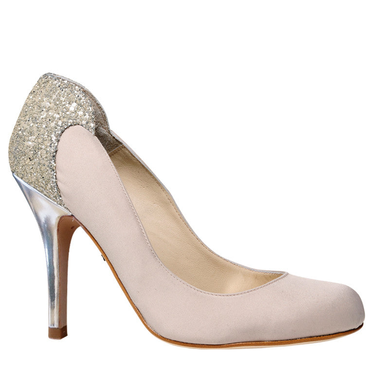 Lara ivory satin stiletto wedding shoes