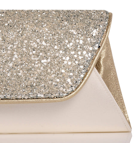 Lucille glitter envelope clutch bag