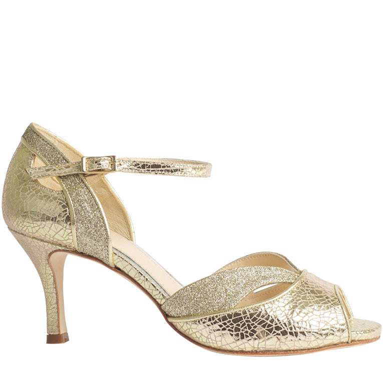 Marlene gold wedding dance shoe
