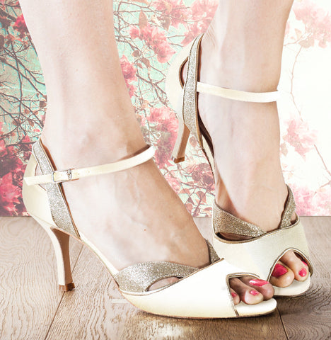 Marlene cream wedding dance shoe