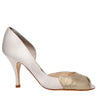 Sabreen cream peep toe wedding shoe