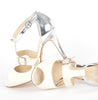 Tani cream cut away t-bar wedding shoes