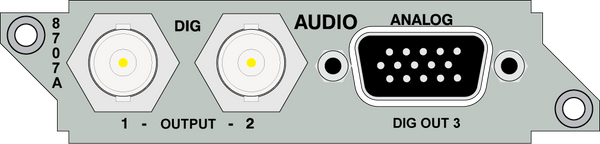 Audio Output Card 8707A - CLOSE OUT