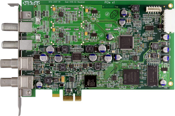 Dual DVB-S2 Receiver for PCI Express Bus