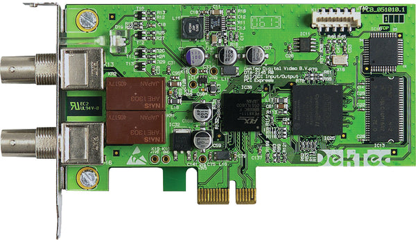Dual ASI/SDI Adapter for PCI Express Bus