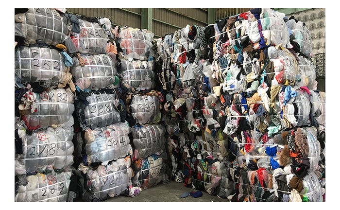 Clothing waste pile