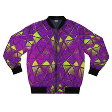 Load image into Gallery viewer, Purple Y2K Bomber Jacket