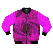Load image into Gallery viewer, Pink Tornado Bomber Jacket