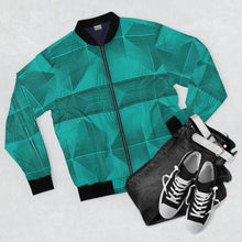 Load image into Gallery viewer, Piramids of Turquoise Bomber Jacket
