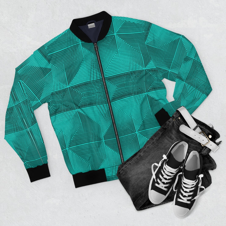 Piramids of Turquoise Bomber Jacket