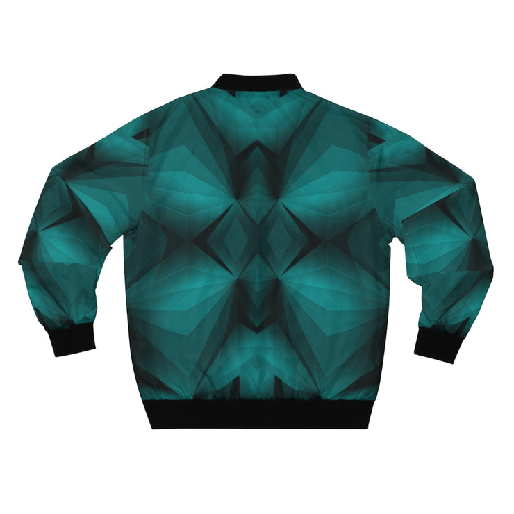 Cyan Blue Bomber Jacket