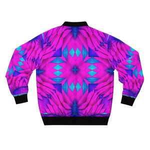 Purple Pink Crystals Bomber Jacket