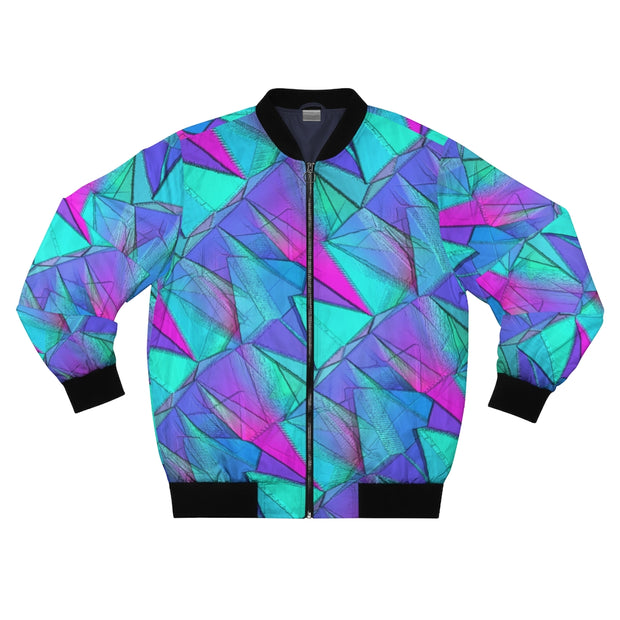Blue Crystal Chlorine Bomber Jacket