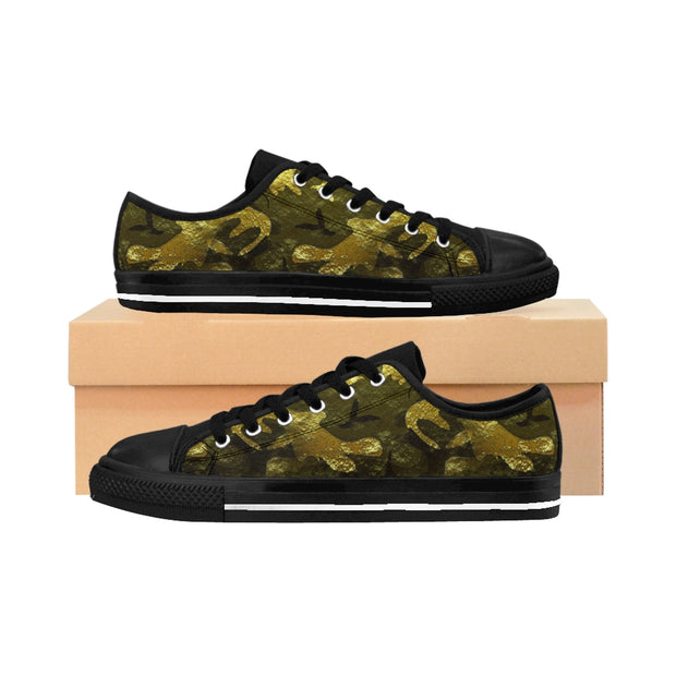Camo Gold Sneakers