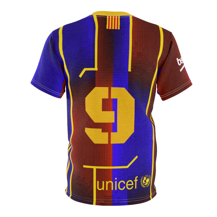 Artistic interpretation of Barca shirt