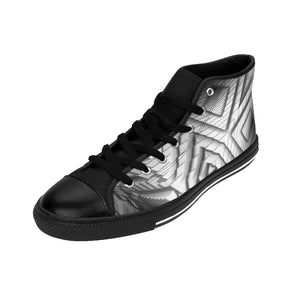 High-top metallic silver