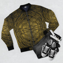 Load image into Gallery viewer, Golden Hex Bomber Jacket