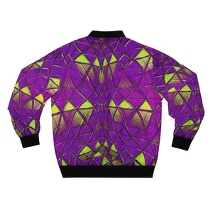 Purple Y2K Bomber Jacket