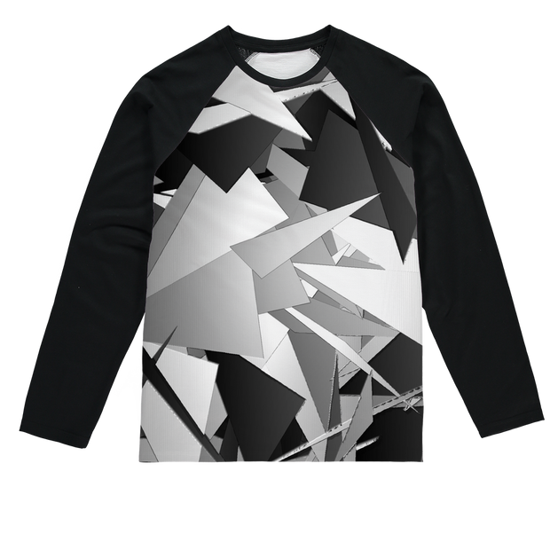 ALL BLACKS, GREYS AND WHITES Sublimation Baseball Long Sleeve T-Shirt