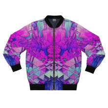 Load image into Gallery viewer, Purple Crystals II Bomber Jacket