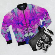 Purple Crystals II Bomber Jacket