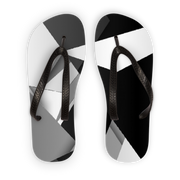 Black_White Adult Flip Flops