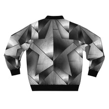 Load image into Gallery viewer, Silver Star Bomber Jacket