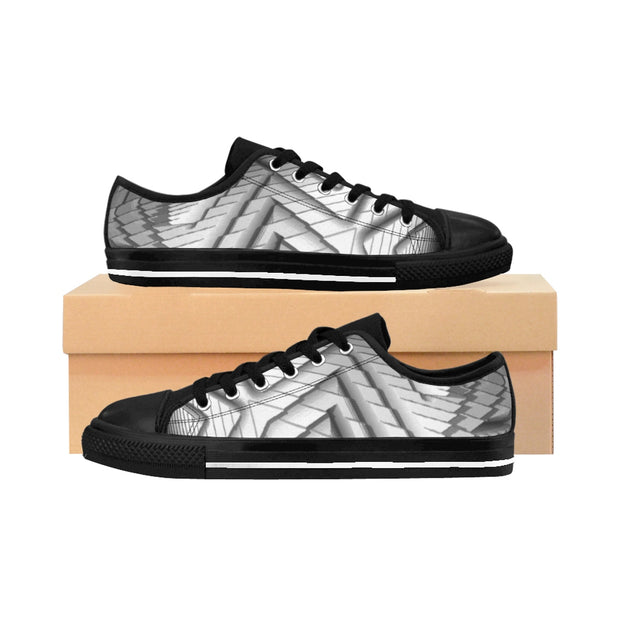 Silver metallic sneakers