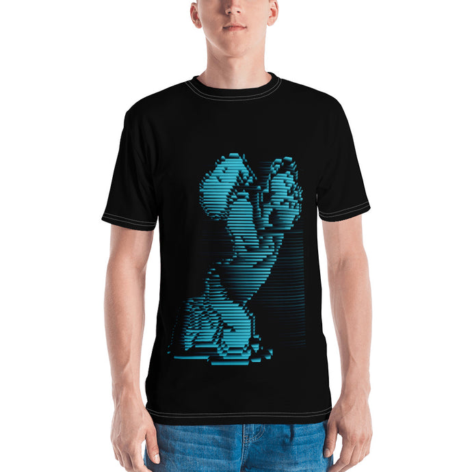 T-shirt with artist impression of Popeye with relief