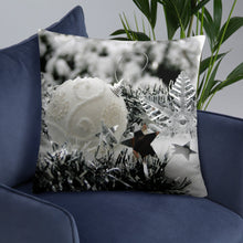 Load image into Gallery viewer, Christmas Balls Pillow white as snow