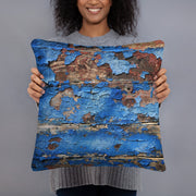 cushion wood print