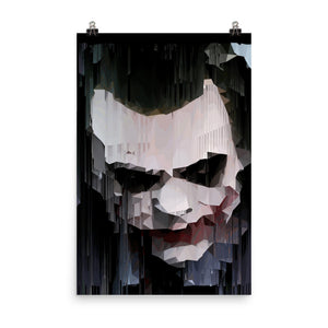 Poster with artist impression of the joker