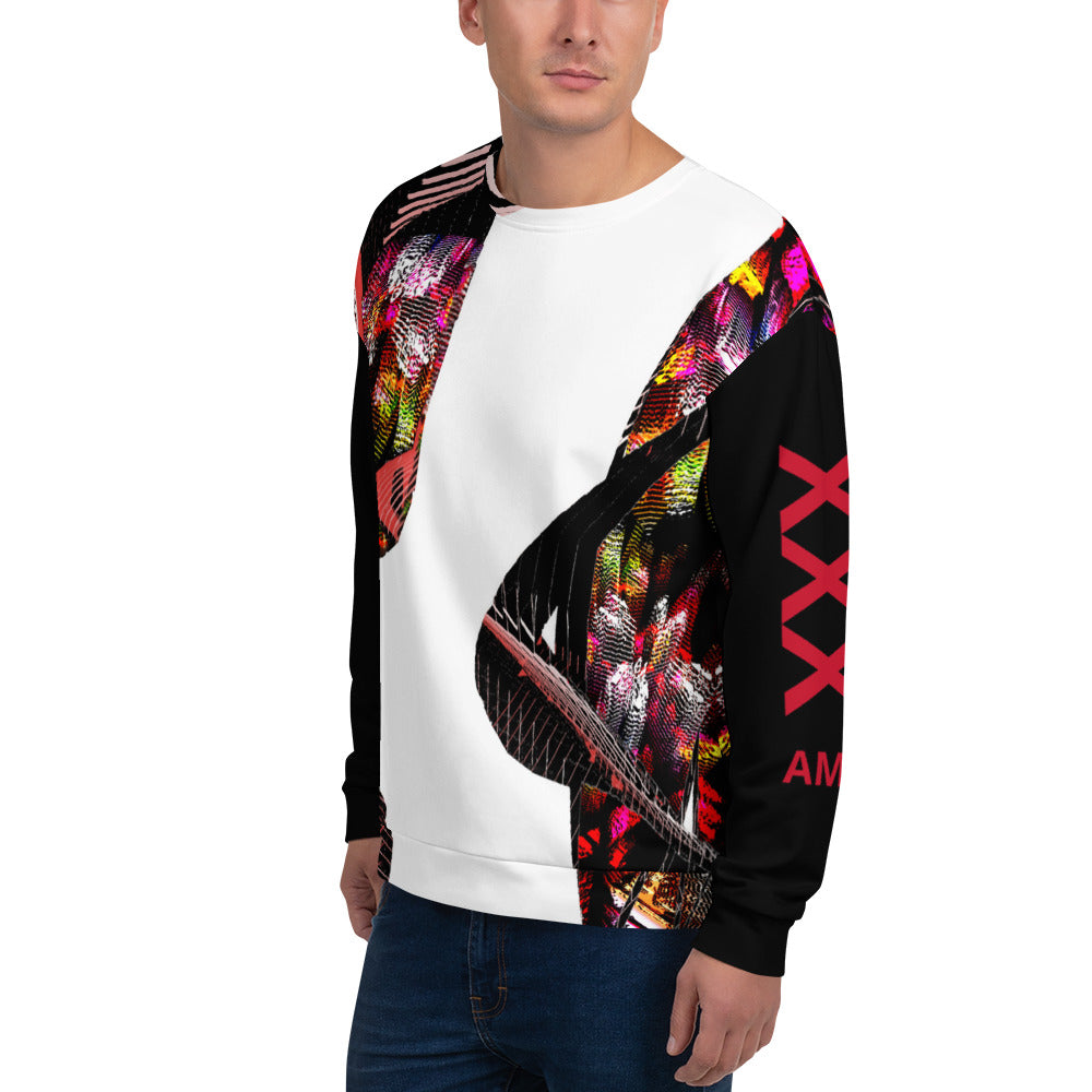 Sweatshirt full of colors with text on back one world - Sciarosu