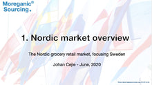 Load image into Gallery viewer, Nordic grocery retail overwiev 2020 - Moreganic Sourcing - 2020 - Single user.