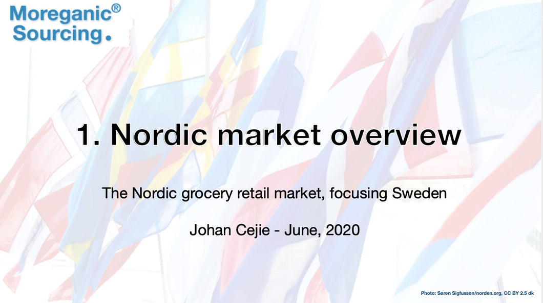 Nordic grocery retail overwiev 2020 - Moreganic Sourcing - 2020 - Single user.
