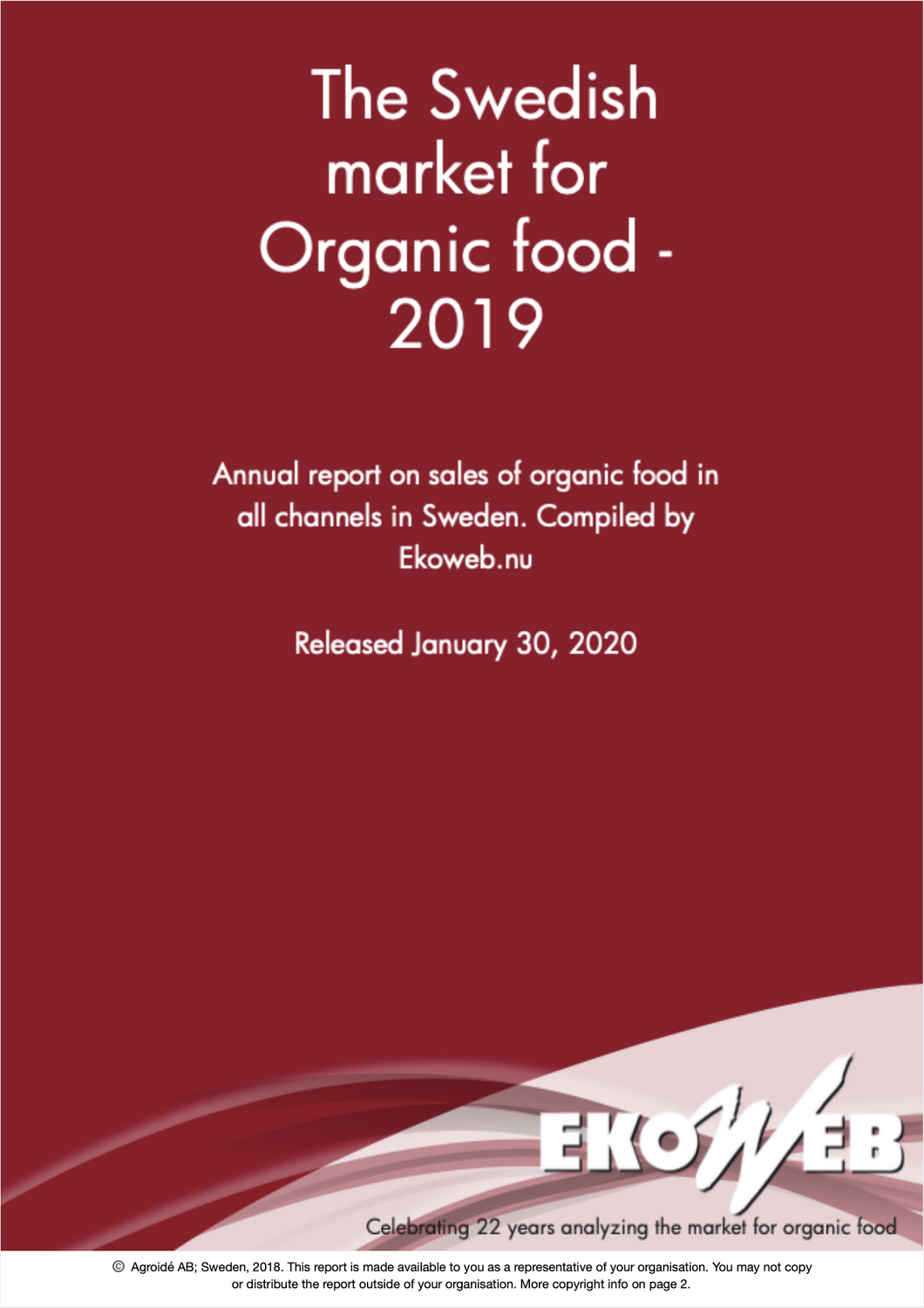 Swedish Organic Food Market 2019 - Ekoweb - Multi user
