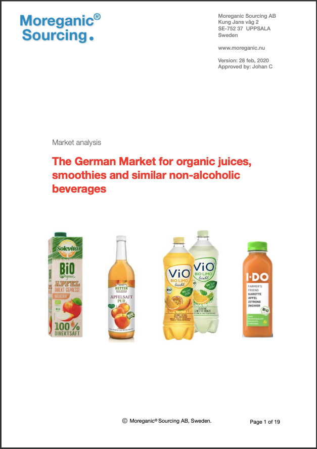 German market for organic juices and other non-alcoholic beverages - 2020 - multi user