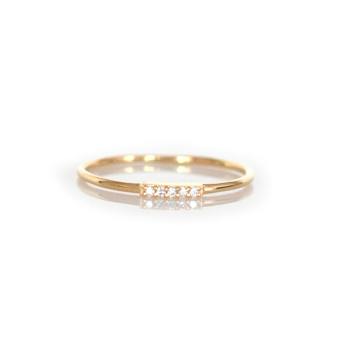 14kt Gold Diamond Alinea Ring