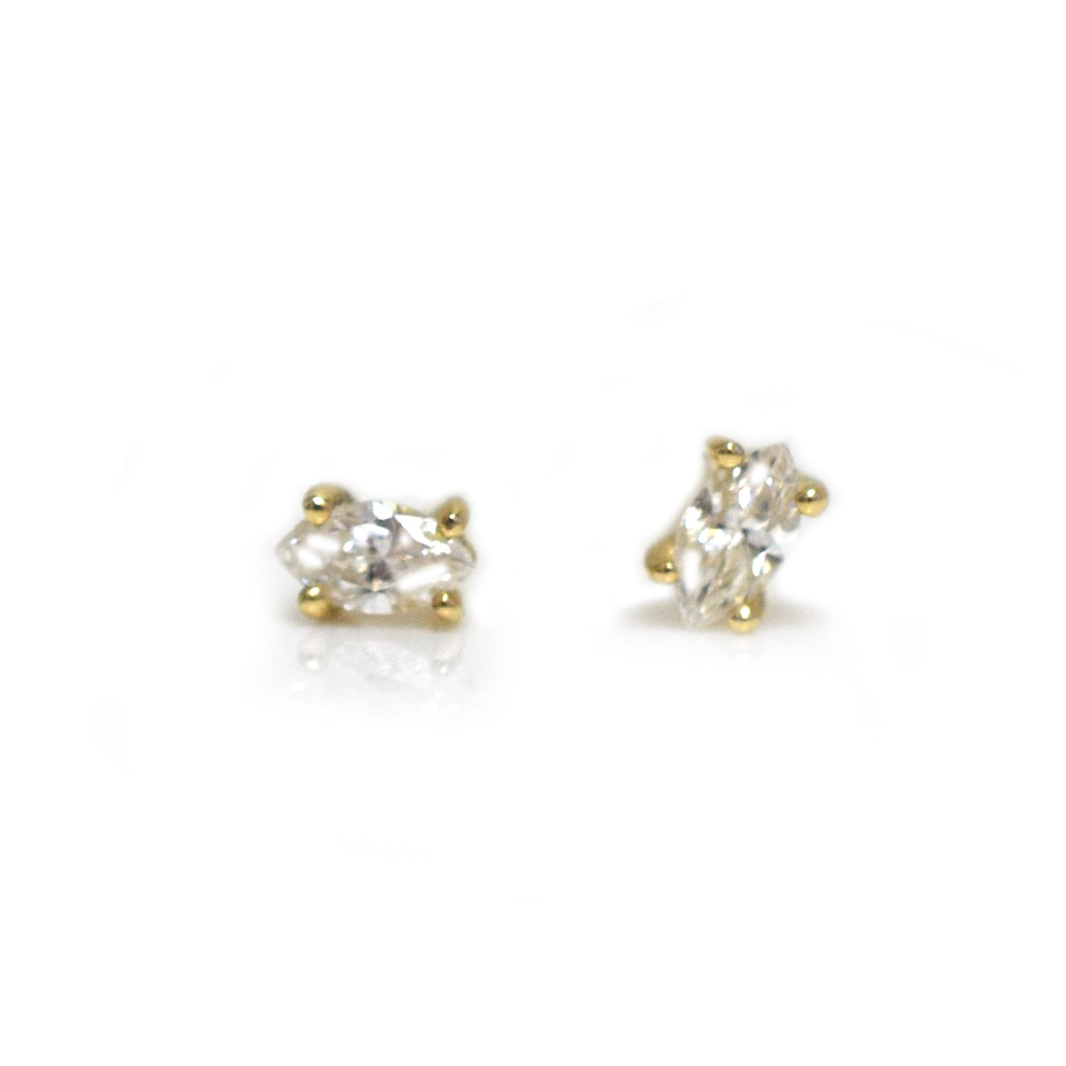 14kt Gold Diamond Eye Studs