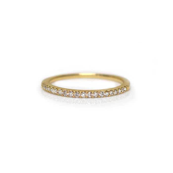 14kt Gold Diamond Half Eternity Band