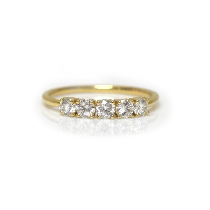 14kt Gold Diamond Lovers Bridge Band