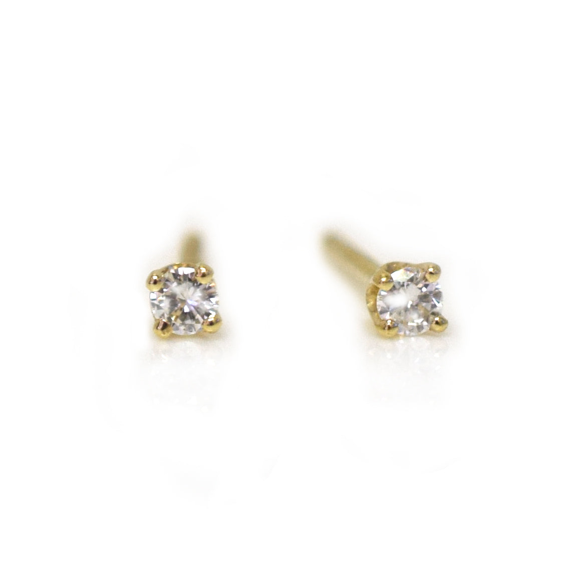14kt Gold Solo Diamond Studs *online exclusive*