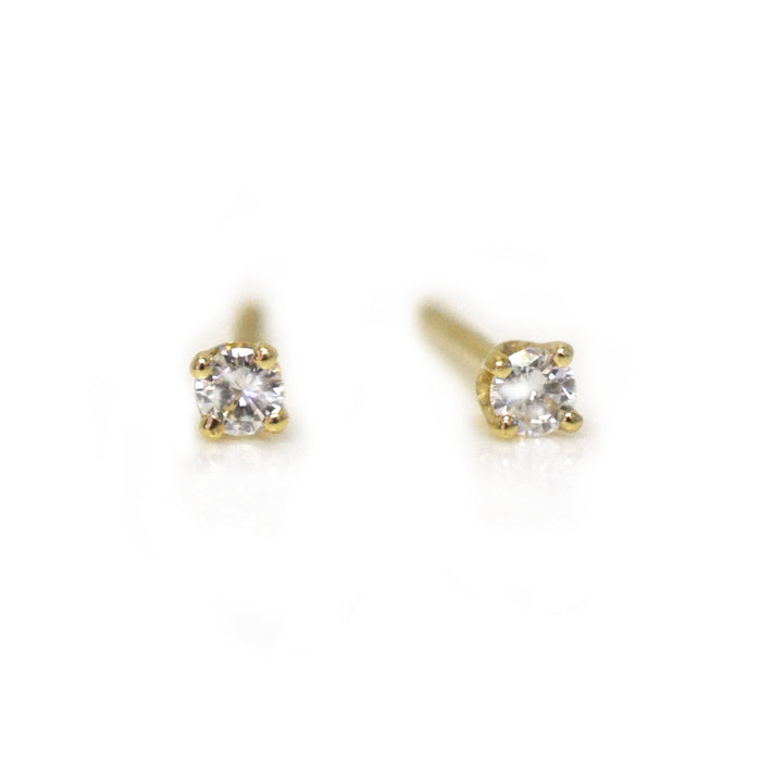 *online exclusive* 14kt Gold Solo Diamond Studs