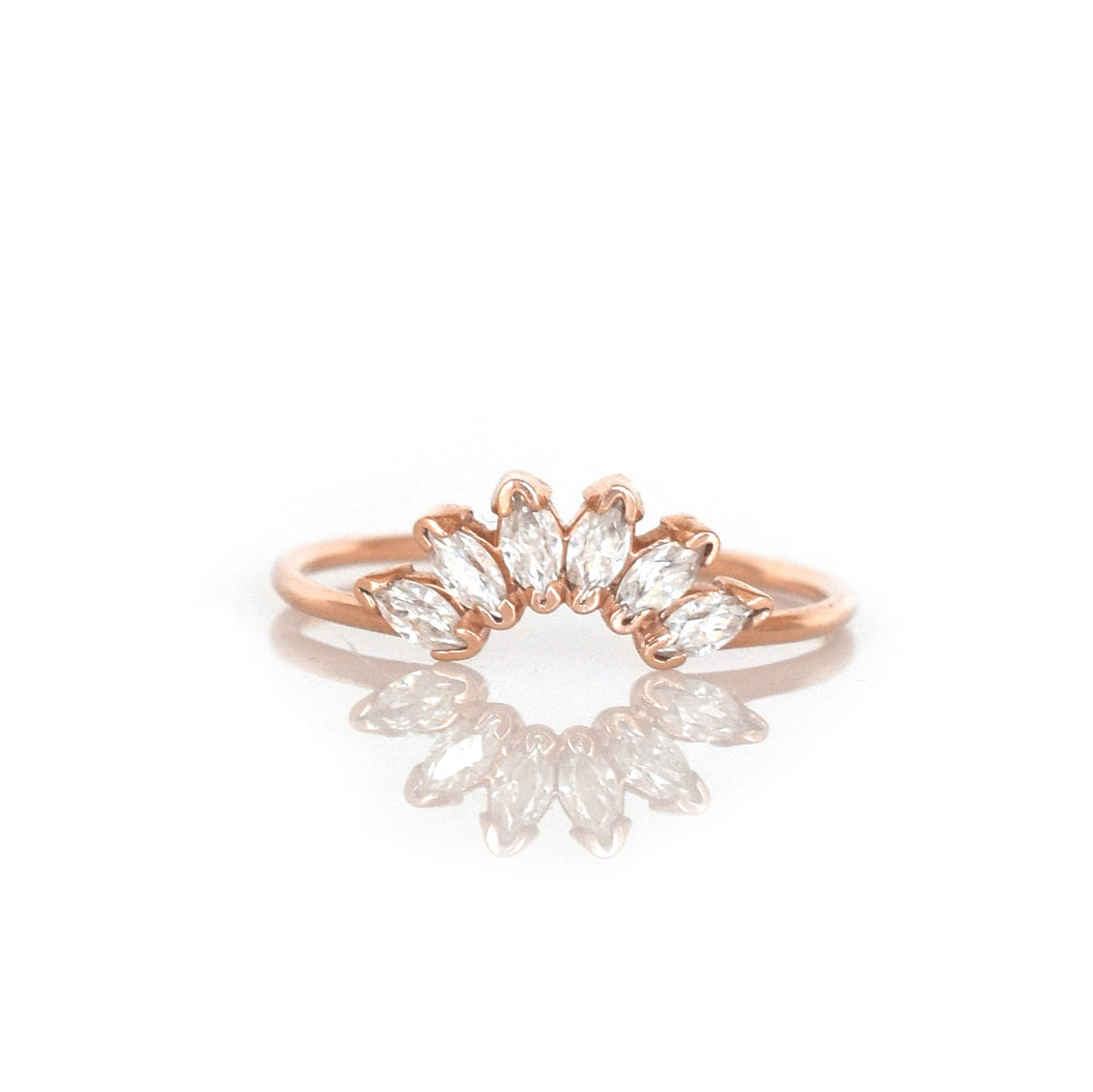 14kt Gold Diamond Caribbean Sunrise Ring