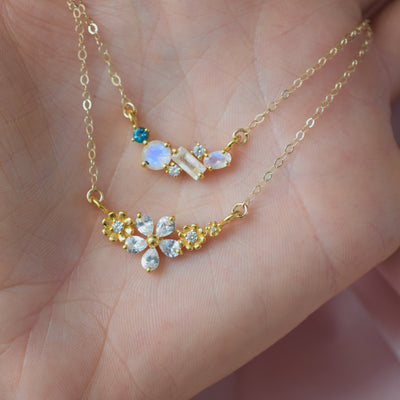 Diamond Flower Garland Pendant
