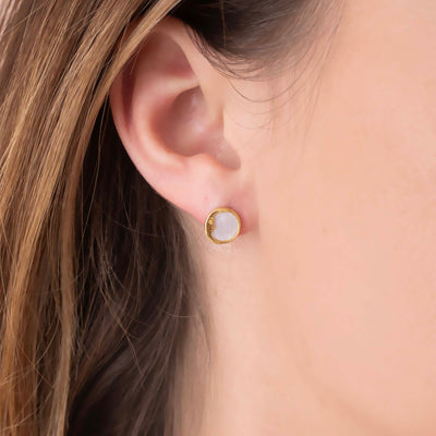 Mother of Pearl Sun and Moon Studs