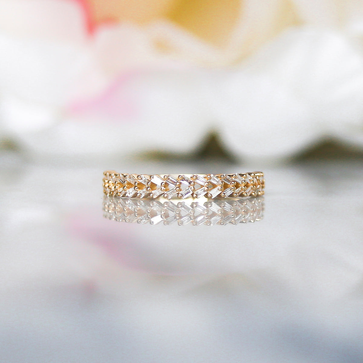 10kt Diamond Rope Of Love Ring