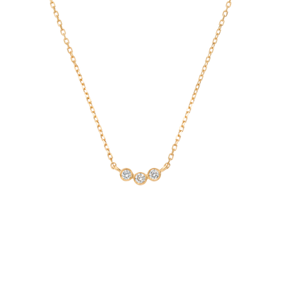 14kt Gold Diamond Trio Pendant