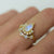 Rainbow Moonstone & Topaz Arc Ring