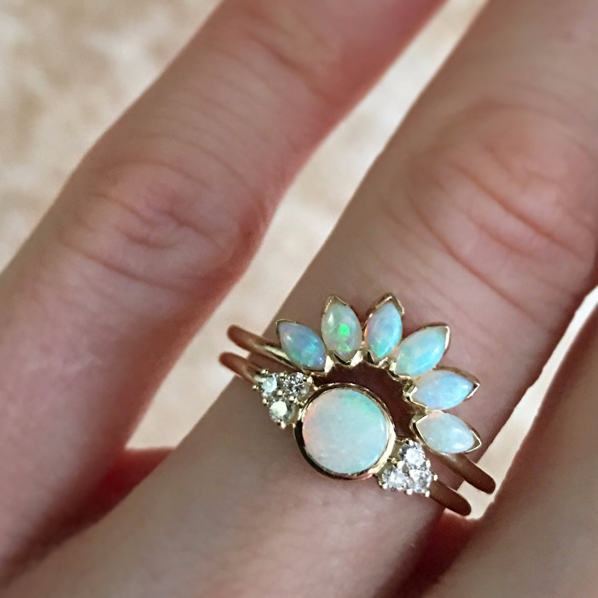 14kt Gold Opal Caribbean Sunrise Ring